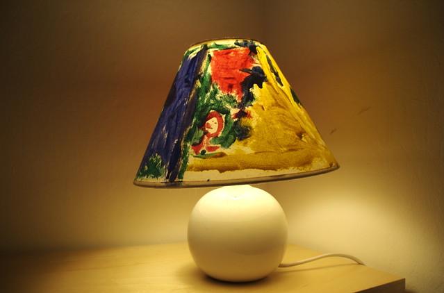 Painted lamp shade veronique christensen flickr painted lamp shade by veronique christensen aloadofball Gallery