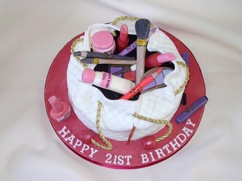 Makeup Birthday Cake Photos