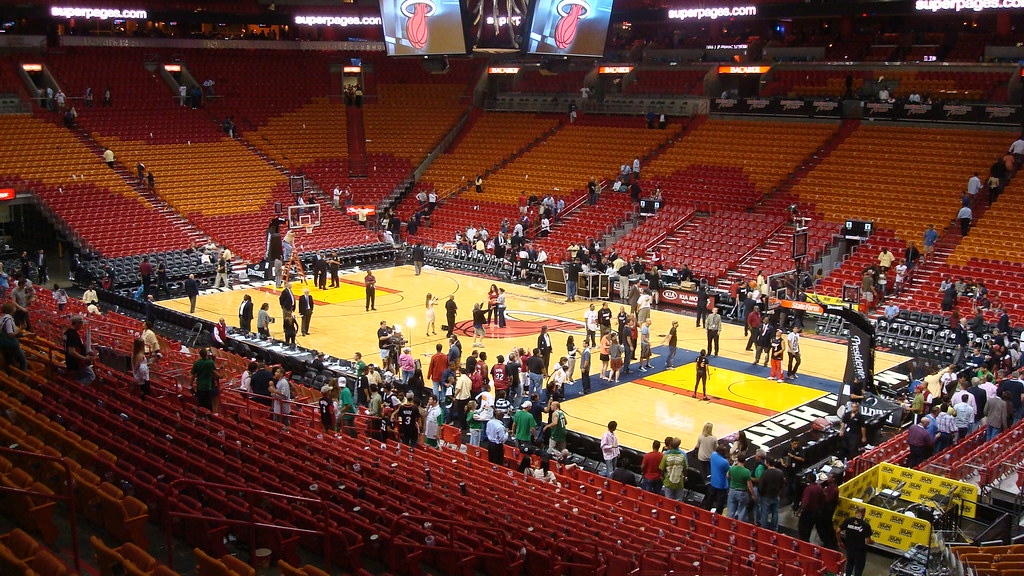 American Airlines Arena 200 S Section Inside The Arena
