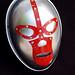 silver luchador mask