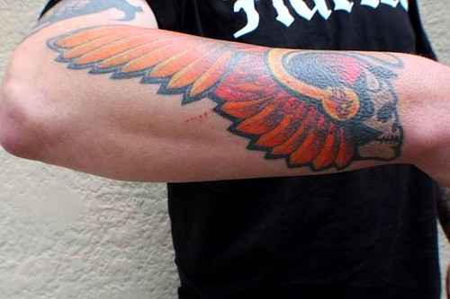 81 tattoo patch size piece i did on a member a while for Hells angels tattoos pics