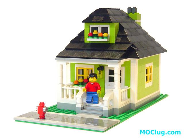 Lego Moc Grandma 39 S Lime Green House If Grandma Were To