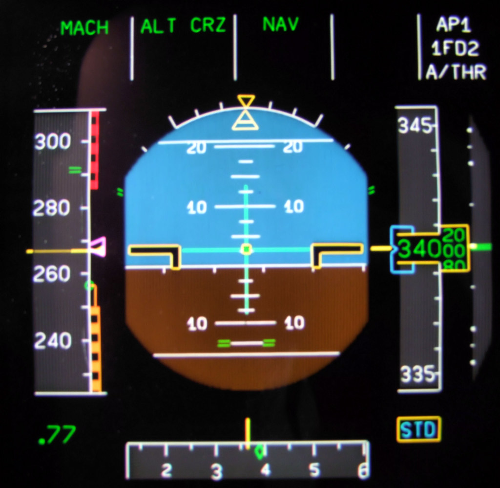 Primary Flight Display Pfd Brief Description Cruising