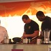 Robert Irvine gives a food demostration at Chef Goofy helps kids cook at Disney's California Food & Wine Festival