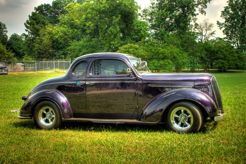 Custom Hot Rod In Hdr Nicely Restored 37 Plymouth Coupe Flickr