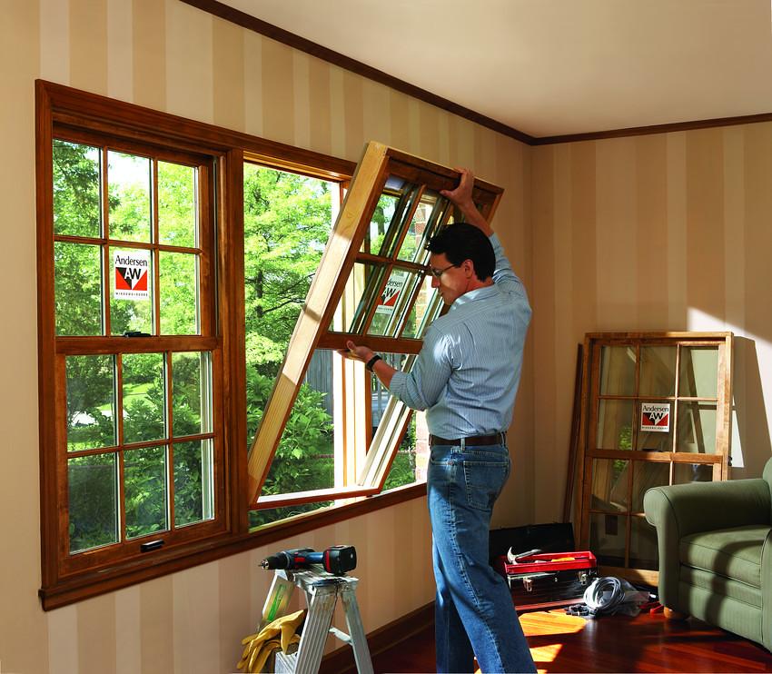 Деревянные окна установка своими руками видео