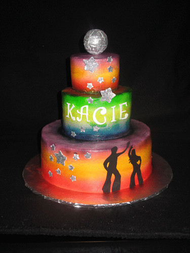 Cake Ideas Disco Birthday Party : Kacie s Disco cake This was for one of my daughter s ...