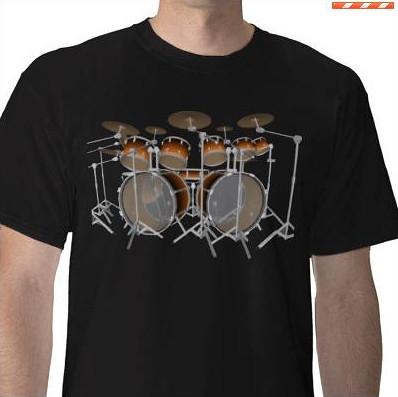 orange gradient drum kit t shirt flickr. Black Bedroom Furniture Sets. Home Design Ideas