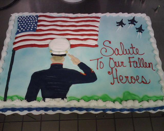 Memorial Day Cake Full Sheet Marble Cake Iced In
