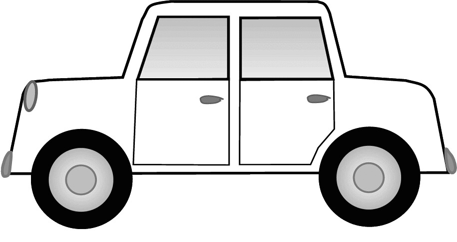 white car sketch clipart, 15 cm long | This clipart ...