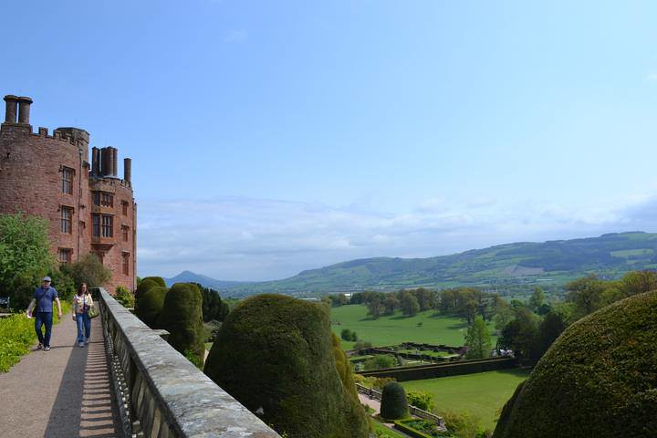 Terrace In Powis Castle Welshpool In Powys Gemma