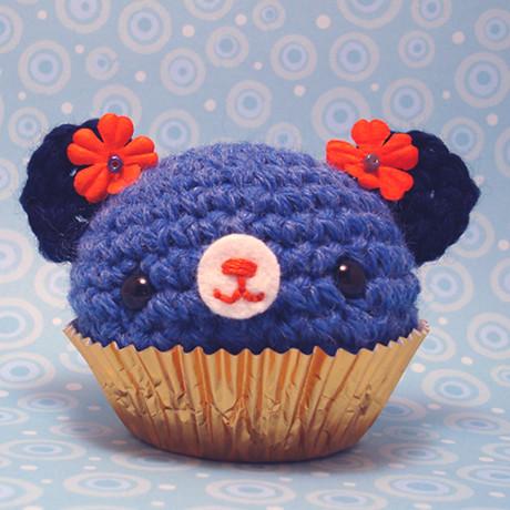 Peelable Orange Amigurumi : Amigurumi orange and blue cupcake bear Jou Ling Yee Flickr
