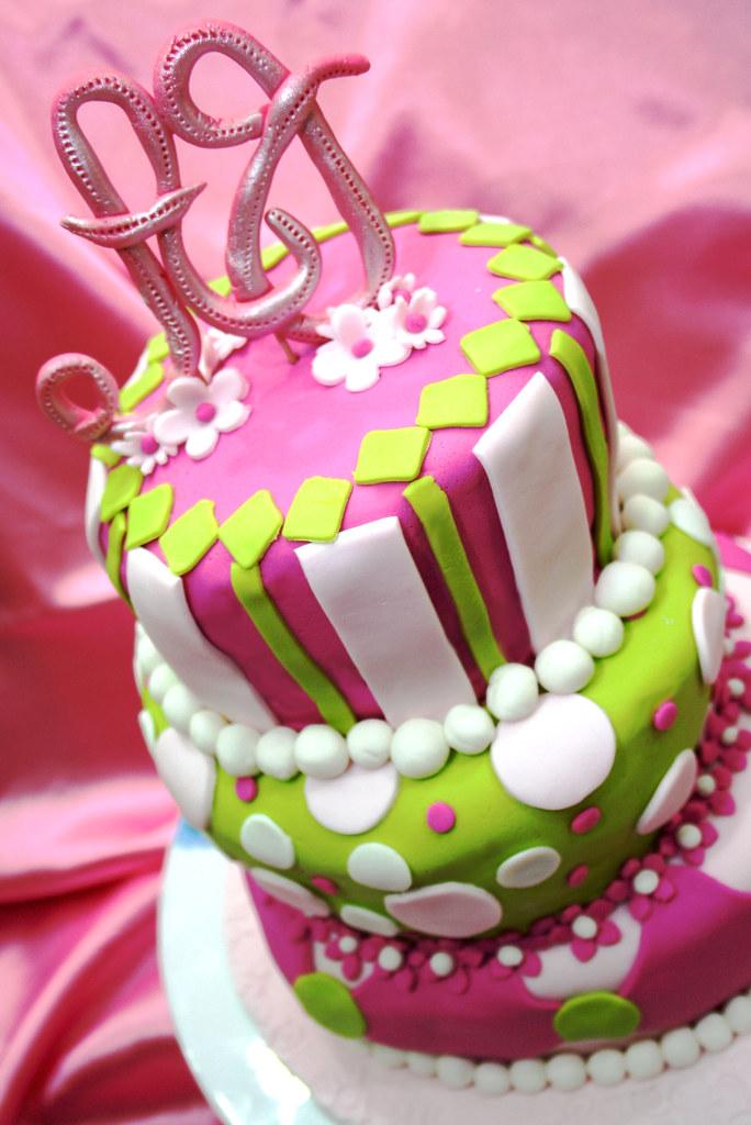 Aj S Birthday Cake Topsy Turvy Anita Flickr