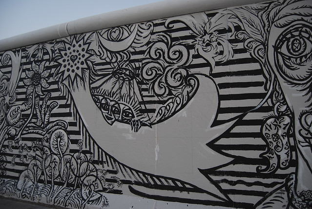 Black and white mural berlin wall mural ruki flickr for Black and white world map mural