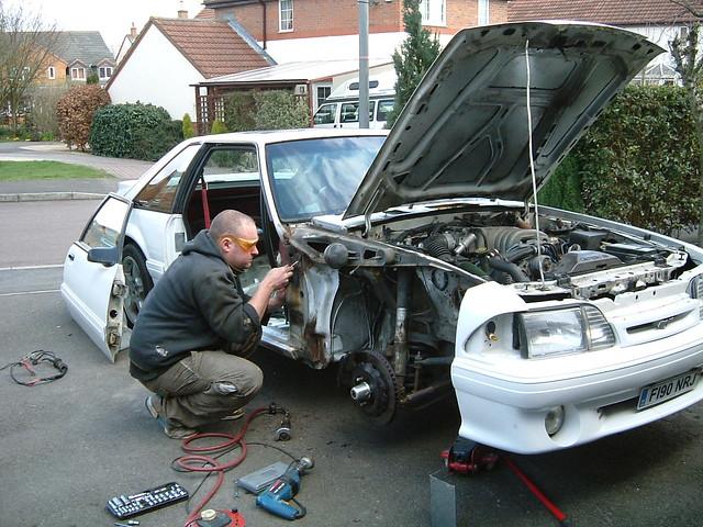 Fox Mustang Door Pillar Repair 2 Another Typical Weekend
