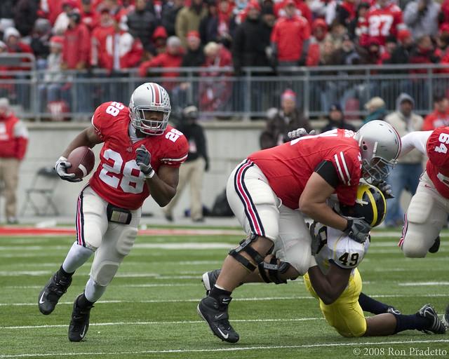 """2707 Ohio State running back Chris """"Beanie"""" Wells"""