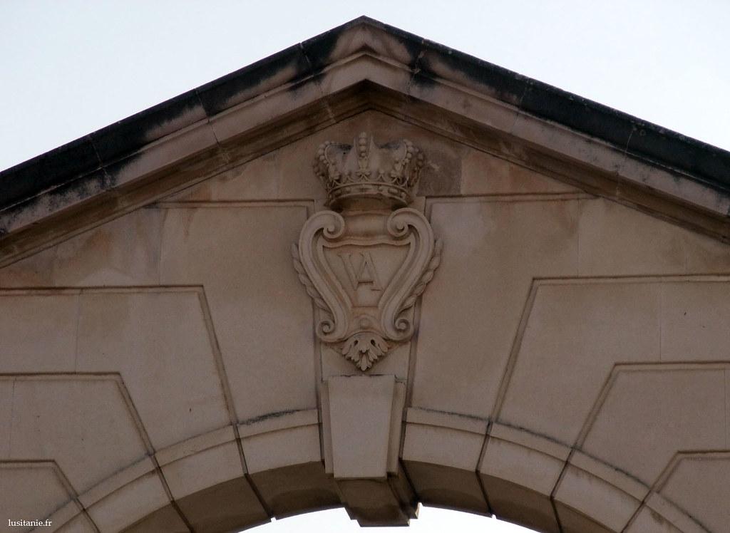 L'emblème de Vista Alegre, sur la porte de la ville