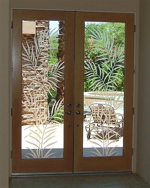 Ferns Etched Door Glass Custom Designed Etched Carved Gl Flickr