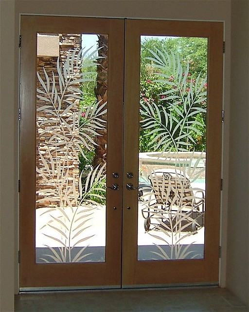 ... Ferns Etched Door Glass | by Sans Soucie Art Glass Studios Inc. & Ferns Etched Door Glass | Custom designed etched carved glu2026 | Flickr