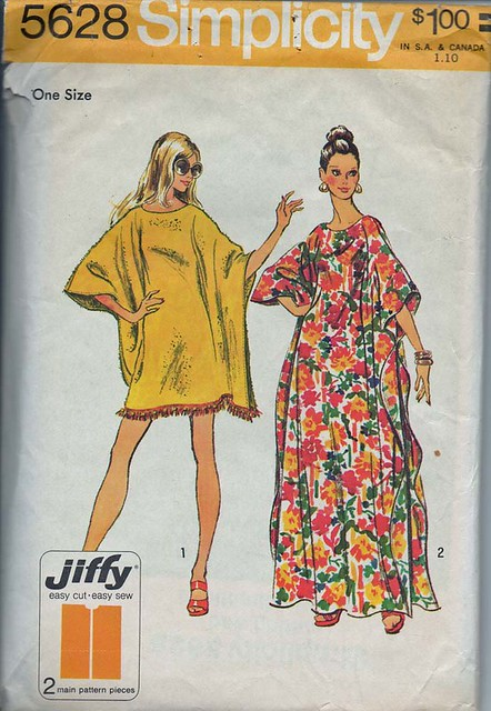 Vintage 1970's Simplicity 5628 Sewing Pattern, Misses' Caf