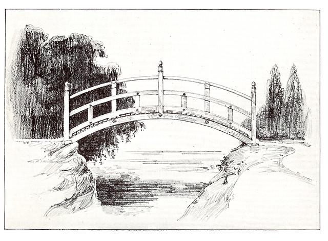 Japanese style garden bridge this antique garden for Japanese style bridge