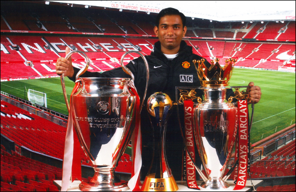 United Triple Champions 2008 Trophies | Taken at ...