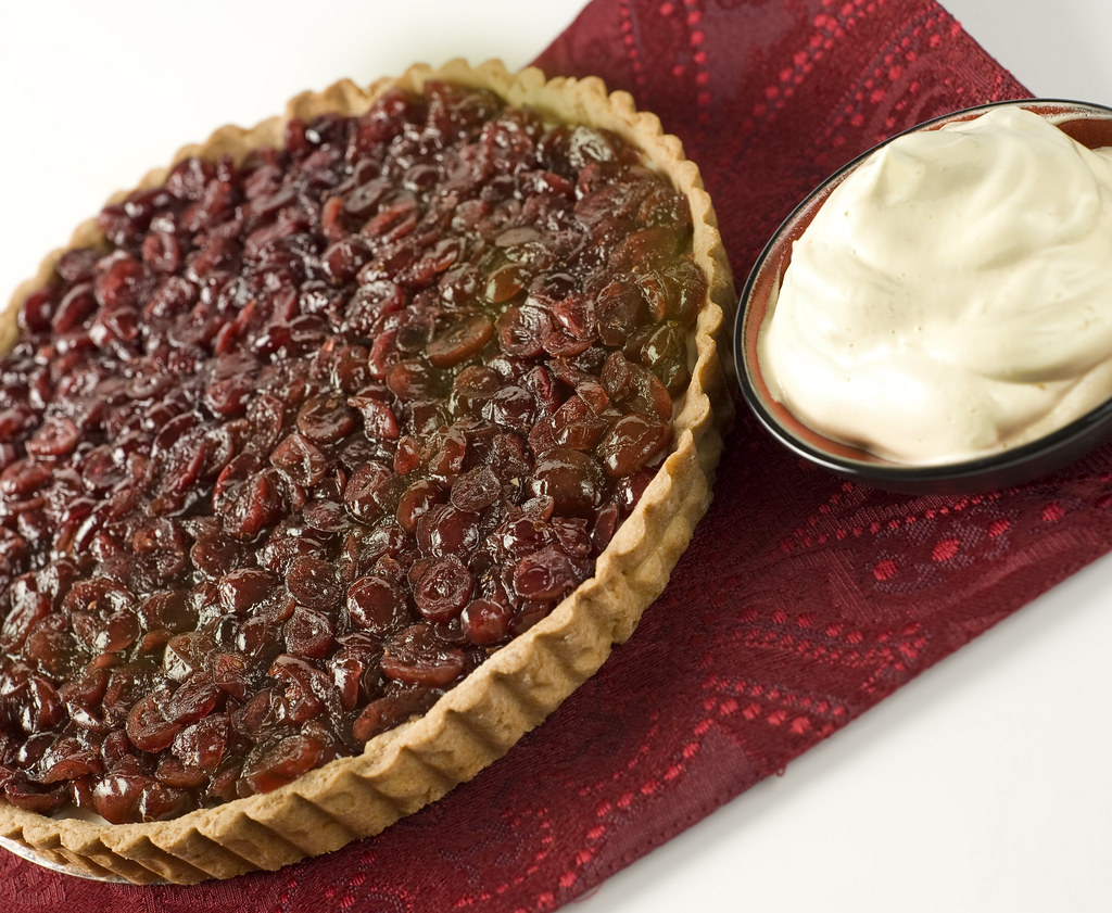 Cranberry-Orange Tart with Orange Fluff and Candied Ginger ...