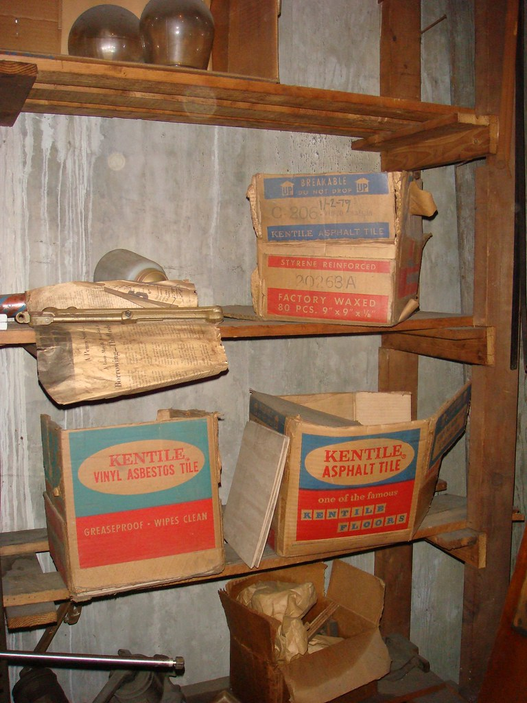 Vintage Asbestos Kentile Vinyl Amp Asphalt Floor Tile Boxes