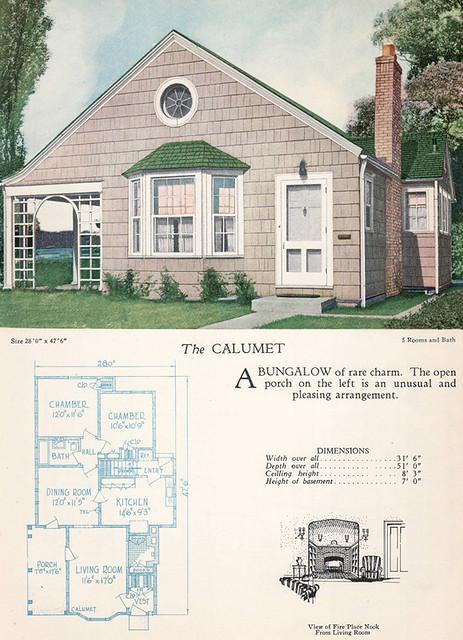 1928 Home Builders Catalog The Calumet