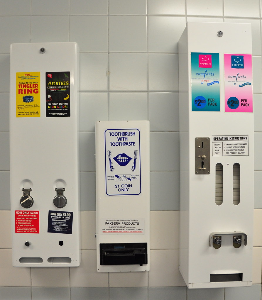 Bathroom Vending Machines Maxi Pads Tampons Toothbrush A Flickr