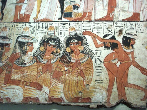 Ancient egyptian tomb art flickr photo sharing for Ancient egyptian mural paintings