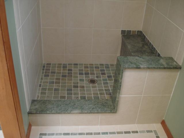 porcelain tile and granite bathroom granite shower bench a