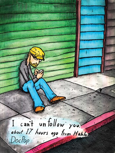 """I can't unfollow you."" 