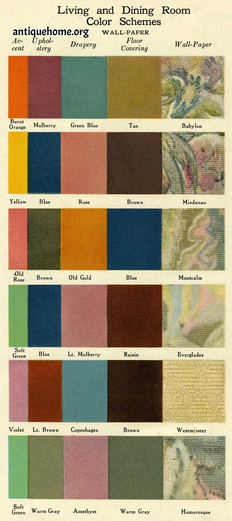 1920 S Color Schemes Amp Wallpaper Color Schemes For The