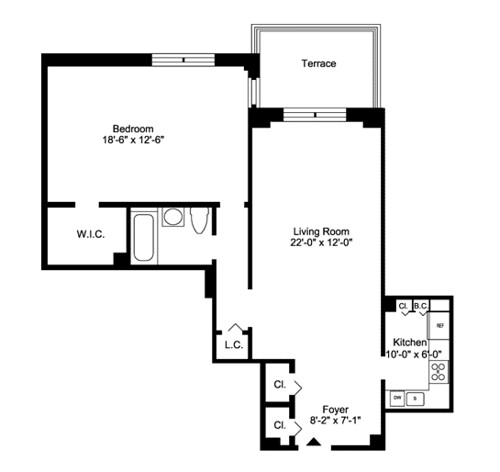 Briar Hill Apartments: A One Bedroon Floorplan At Briar Hill Apartments