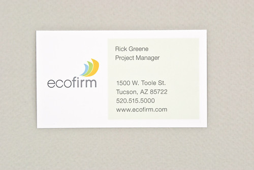 Eco Technology Consulting Business Card | Eco Technology Con ...
