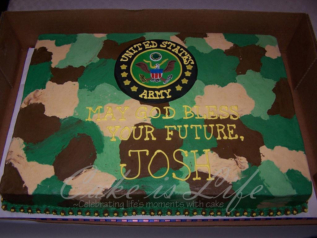 Camo Birthday Cakes For Boys
