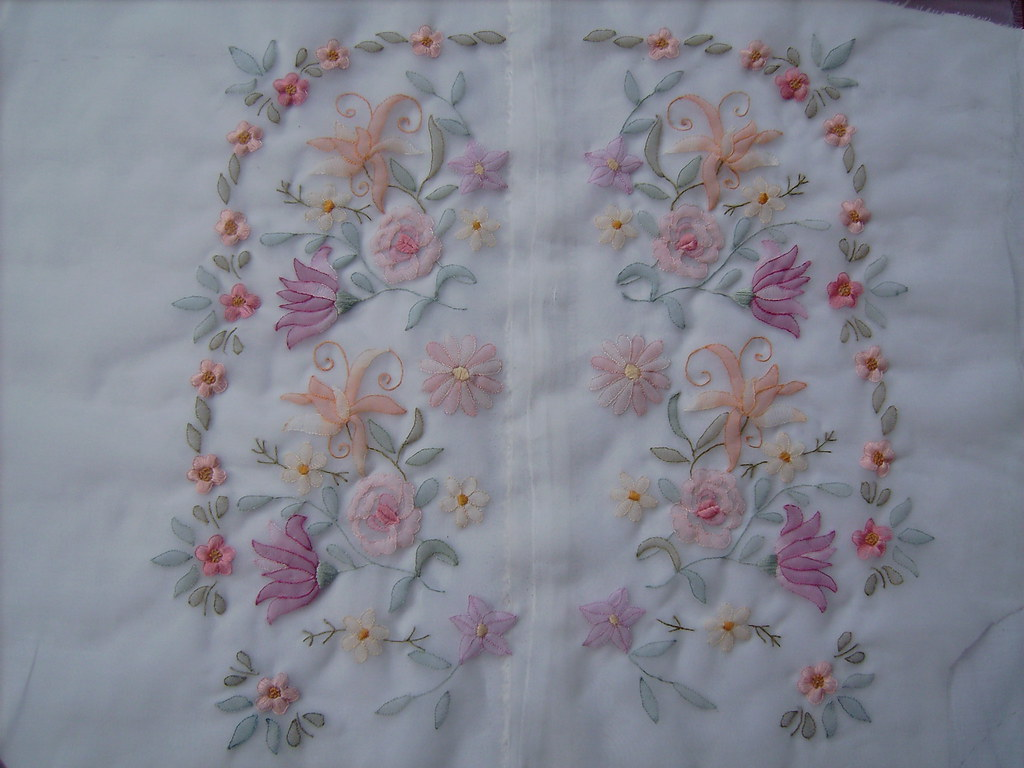 The full front view of shadow work embroidery this