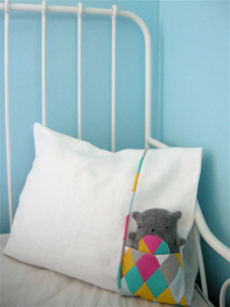 Stuffed Animal Pillows With Pockets : pocket pillowcase blogged elsiemarley Flickr