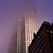 Rockefeller center in the fog