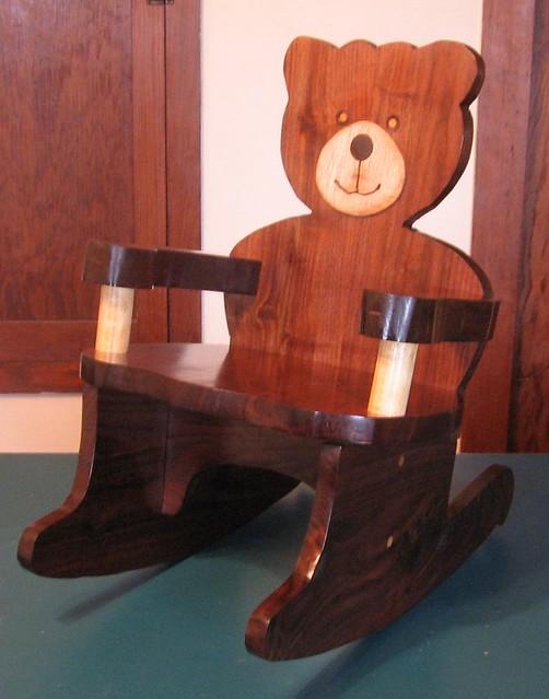 Carmen 39 S Teddy Bear Rocking Chair Solid Walnut Birch