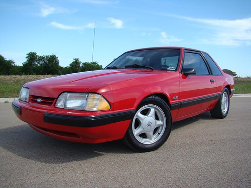 1991 Ford Mustang Fox Body Coupe With Silver Pony Wheels
