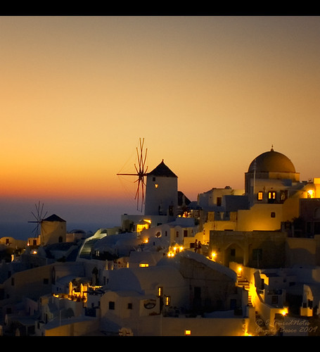 Santorini Windmills at Oia Sunset (Greece) | by Angelo Bosco