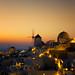 Santorini Windmills at Oia Sunset (Greece)