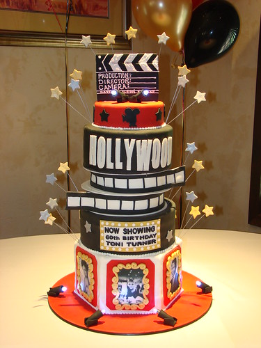 hollywood themed wedding cakes theme cake flickr photo 15272