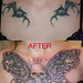 skull butterfly tattoo by Mirek vel Stotker