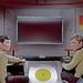 Sulu and Bailey and Pre-FX Viewscreen on Enterprise Bridge