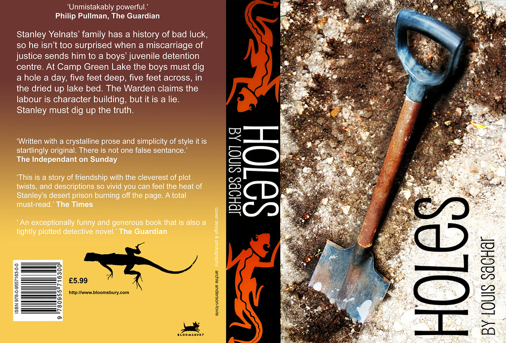Holes Book Cover Ideas : Holes book cover photoshop project for a
