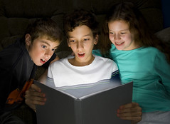 Stock Photo of Children Discovering Reading | by Gragg Family