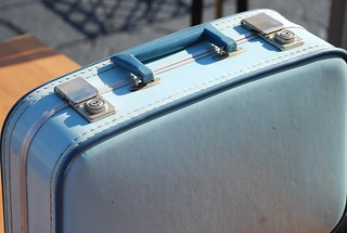 blue vintage suitcase | by kthread